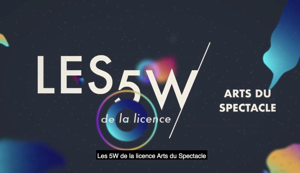 La Licence Arts du Spectacle