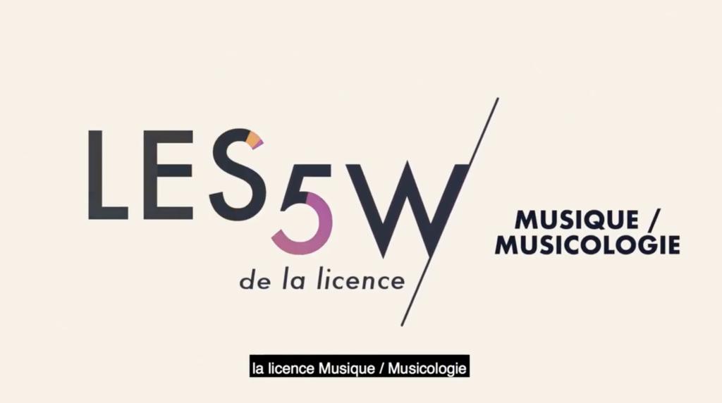 Licence Musique et musicologie